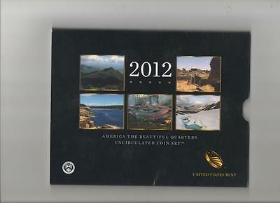 2012 America the Beautiful Uncirculated Quarter Set.