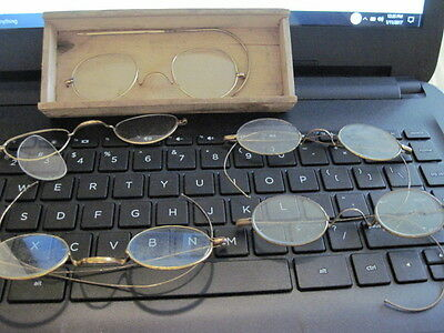 Lot of Antique Wire Frame  Eye Glasses Spectacles - Vintage