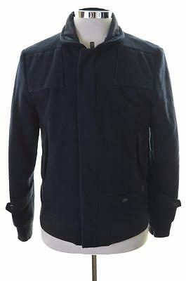 G-Star Mens Bomber Jacket Large Navy Wool Winter Jacket