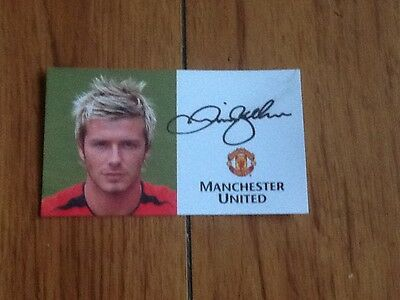 david beckham Manchester United signed there is a little smudge
