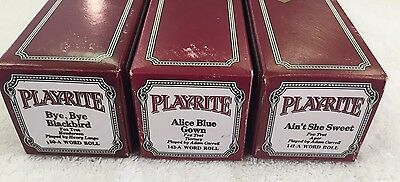 PLAYRITE PIANO ROLLS LOT OF (3) 150a, 143a, 141a Excellent Playable Condition