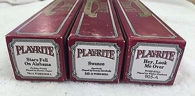 PLAYRITE PIANO ROLLS LOT OF (3) 794a, 345a, 905a Excellent Playable Condition