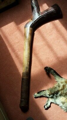 Superb  Large Antique Fijian Wooden War Club Huge Size Really Heavy