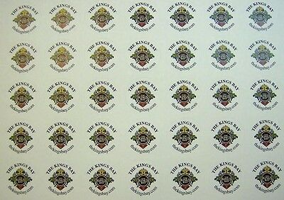 "Full Color Labels 2500 Custom Printed 1"" Round White Removable Business Stickers"