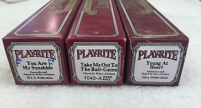 PLAYRITE PIANO ROLLS LOT OF (3) 871a, 1043a, 760a Excellent Playable Condition