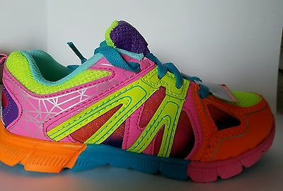 Danskin New Size 1 Girl Athletic Tennis Shoes Multi Colors NWT Youth
