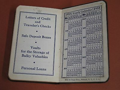 CT NEW HAVEN 1954 Notes Appointment Book Journal BANK promotional