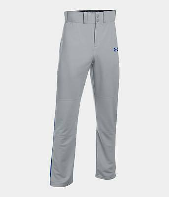 Under Armour Men's UA Clean Up Open Relaxed Baseball Pants Gray Royal Piped