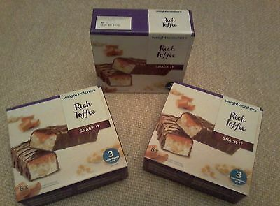 New Smartpoints chocolate bars. 3 boxes of 6 Weight Watchers RichToffee Bars