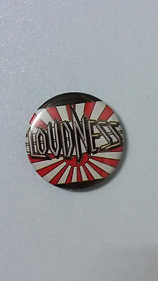 Loudness Japanese heavy metal band music button vintage SMALL BUTTON