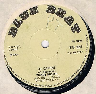 PRINCE BUSTER Al Capone / One step beyond Blue beat 324 classic ska tune