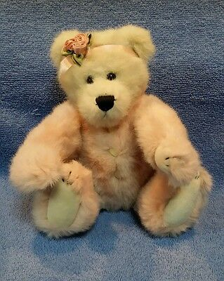"Vintage 1998 Boyds ""guinevere"" Gray 10"" Bear With Pink"