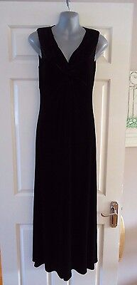 Brand New Ladies M&S Collection Long Maxi Dress in Black Velvet UK 8