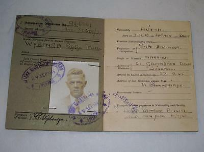 World War II British Certification of Registration Complete with Photo Stamped