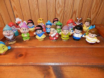 Lot of 16 Fisher-Price Disney Snow White and Dwarfs Little People Figures & More