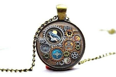PAGAN CALENDAR NECKLACE of *CLAIRVOYANCE PLUS* WICCA WITCH CRAFT TALISMAN AMULET