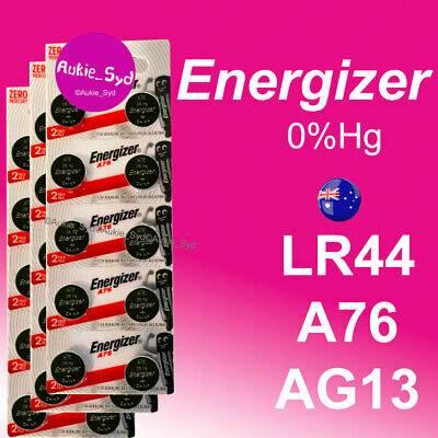 30 x Energizer LR44 A76 AG13 1.5V Button Cell Batteries Fresh Local Stock 0%Hg