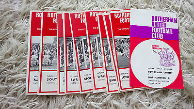 Collection of 10 1968-1970 Rotherham United programmes inc.ex league