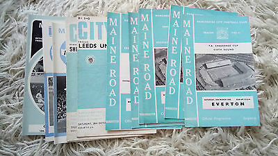 Collection of 12 1966-1973 Manchester City programmes