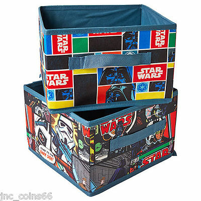 Folding Cubes Fabric Home Storage Star Wars Organisation Box Housekeeping Basket