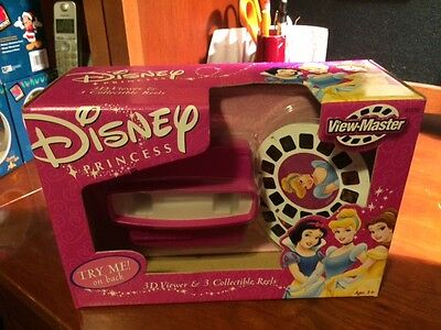 RARE VINTAGE 3D VIEW MASTER DISNEY PRINCESS SET 3D VIEWER NEW ! BRAND NEW in BOX