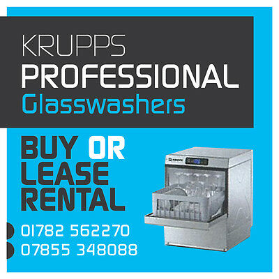 Krupps 350Mm Basket 12/16 Glass Capacity 2 Min Cycle Commercial Glasswasher