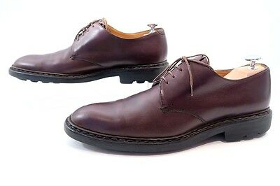Neuf Chaussures Heschung Derby 8.5 42.5 En Cuir Marron Homme Brown Shoes 450€