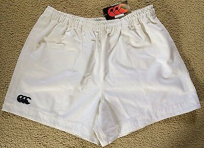 NWT Mens Canterbury Rugby Union Shorts Mens Size 42 White Cotton
