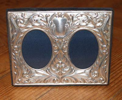 Lovely STERLING SILVER chased DOUBLE PHOTO FRAME by CARRS of Sheffield 1993