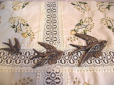3 Vintage Graduated Brass Bird/swallows/duck Wall Plaques - Early Castings