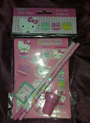 hello kitty stamp and scribble set☆