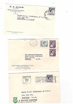 Australia 1960/62 Group of Commercial Covers               ( 3 Covers )