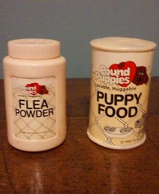 Tonka Pound Puppies Puppy Food Can and flea power Vintage 86 stocking stuffer