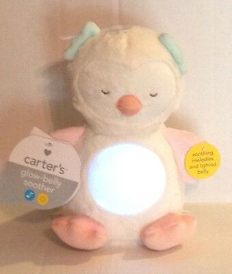 Nwt Carter's Glow-Belly Soother Owl Lights & Music  Lc