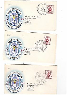 Australia 1956 OLYMPICS Special Cancels on Cover          ( 3 Covers )