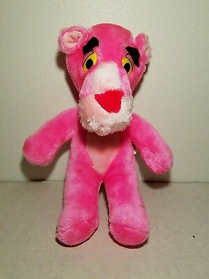 Vintage 12'' Pink Panther Plush Mighty Star 1989 Unlimited Artist Stuffed Animal
