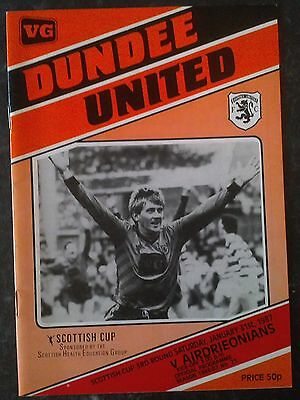 Dundee United V Airdrie Scottish Cup 86/87