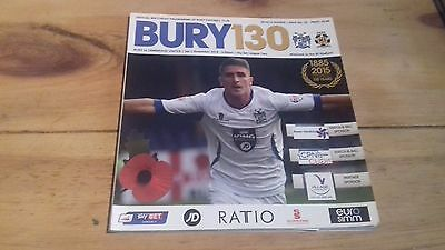 Bury v Cambridge United - League Two match programme: November 1, 2014