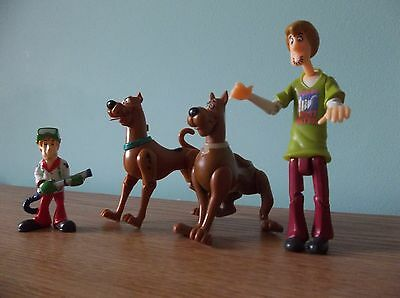 Collectible SCOOBY DO Toys - Ghost Patrol, Vintage 1996, 4 pieces, moving parts