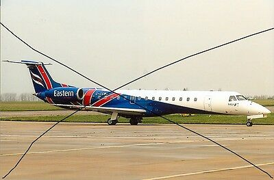 Civil Aircraft Photo Eastern Airways Photograph Of Embraer 145 Plane Picture.