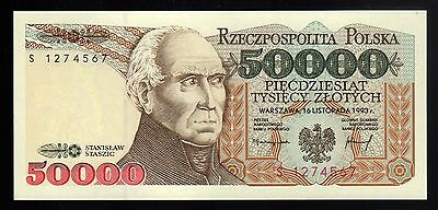 POLAND:  50,000 ZLOTYCH  (1993)  (S 1274567)  * uncirculated *