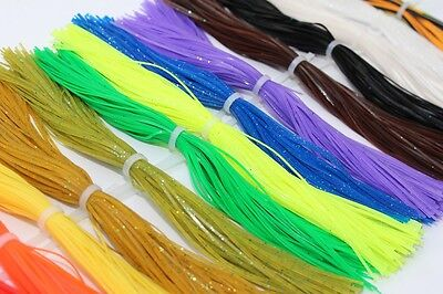 16 bundles/lot DIY Plain Color Silicone Legs Pearl Flake Fly Tying Material