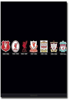 "Evolution Logo Liverpool FC Fridge Magnet Collectible Size 2.5"" x 3.5"""