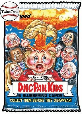 Topps GPK disg-Race to the White House 137: Wacky Packages: DNC Pail Kids