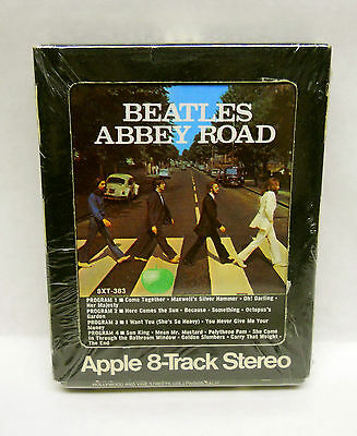 The Beatles Abbey Road Apple Records factory SEALED 8 track tape unopened rare