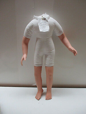 "#10 Vintage Cloth Doll Body Bisque Legs & Arms To Repair 20"" Doll Or Artist Doll"