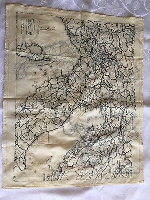 Authentic WWII Escape Map Silk Scarf Northern Southern Italy