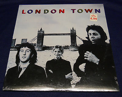 WINGS McCartney first press LONDON TOWN 1978 Capitol Records SEALED LP Beatles