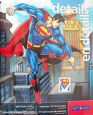 "2013 Canada Post Sept. Philatelic DETAILS catalogue ""Superman 75th Anniversary"""