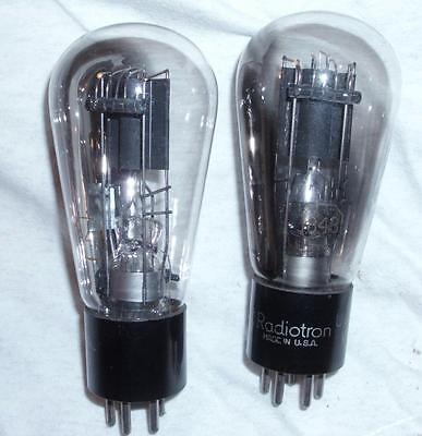 Pair of RCA Radiotron Globe 843 VT-73 Tubes TV-7D/U tested strong!!
